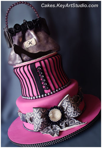 Fashionista Cake 72 Servings Strawberry Champagne Cake