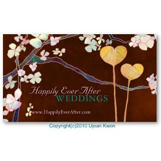 elegant two hearts wedding planner business cards by whimsicalworld - Wedding Planner Business Cards