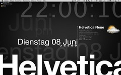 Helvetica with geektool
