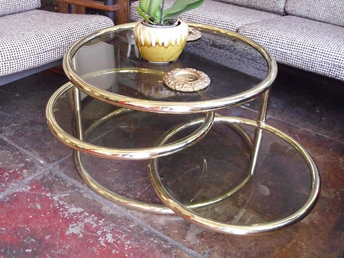 Brass and glass multi level coffee table beautiful 1970s for 2 level glass coffee table