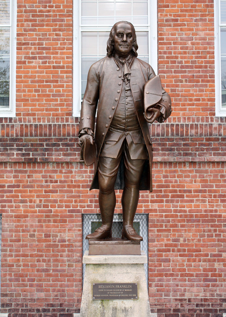 Benjamin Franklin Statue | The zinc statue of Franklin was ...