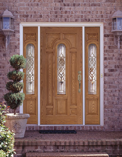 Feather River Door Fiberglass Entry Doors Light Oak Door