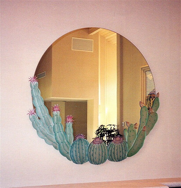 Decorative Mirror Hand Carved Painted Mirror Cactus Flickr