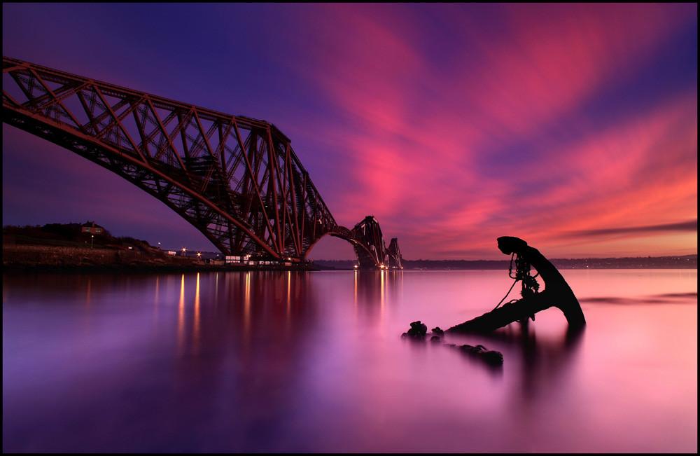 Forth Rail Bridge Sunset Scotland Explore 1 Thanks