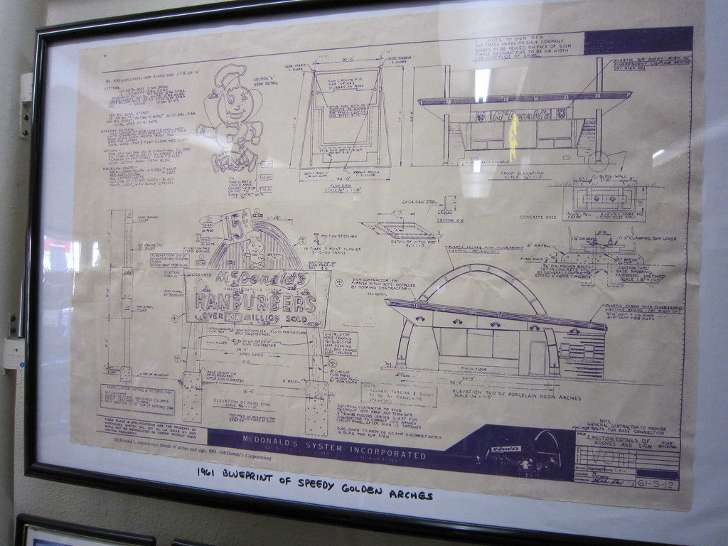 Blueprints For A Vintage Mcdonald S Restaurant 01 24 201