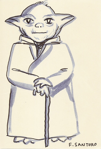 Yoda sketchbook vol. 2 page 75 - Frank Santoro | by Mike Baehr