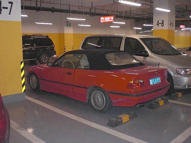 SHANGHAI PUDONG , OLD 3 SERIES BMW CONVERTIBLE 022