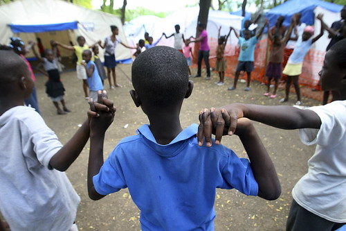 Displaced Haiti Children Find Solace in Camp Play Area | by United Nations Photo