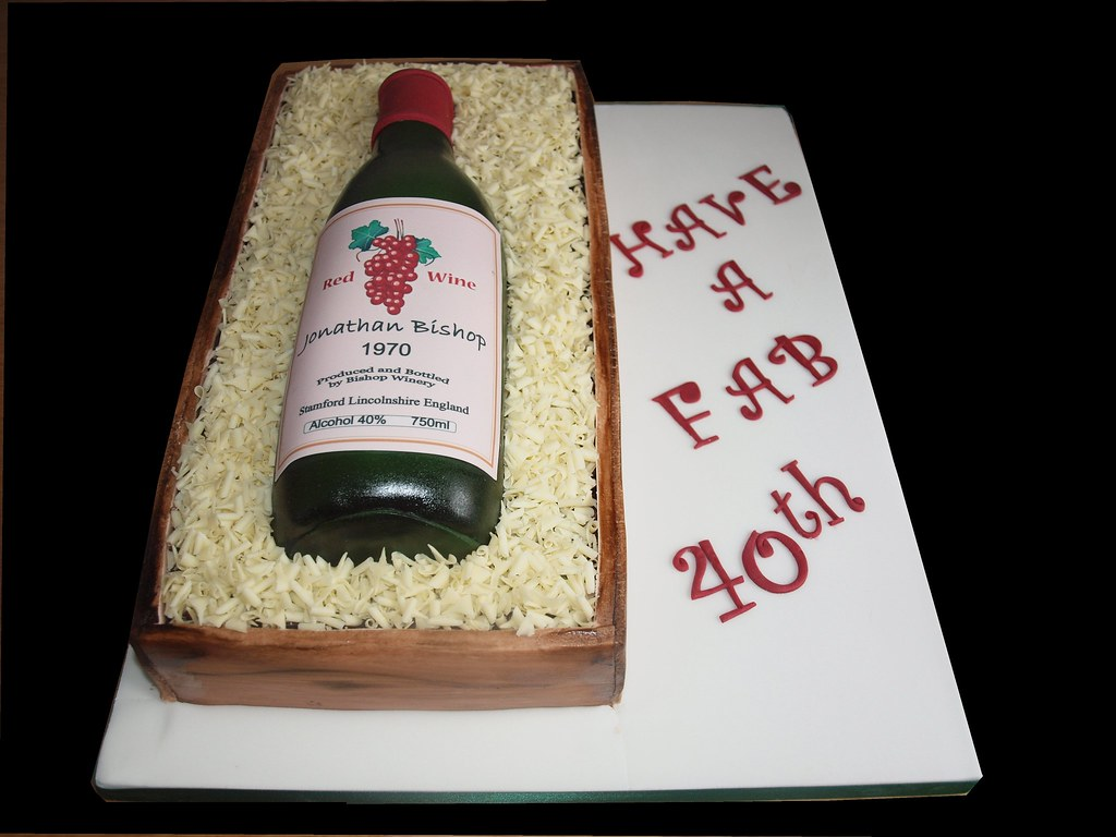 Wine Bottle Cake A Request For A Red Wine Bottle Cake