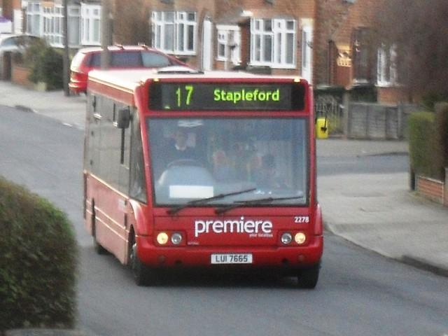 Premiere Bus Route Number 17 Toton Premiere Bus On