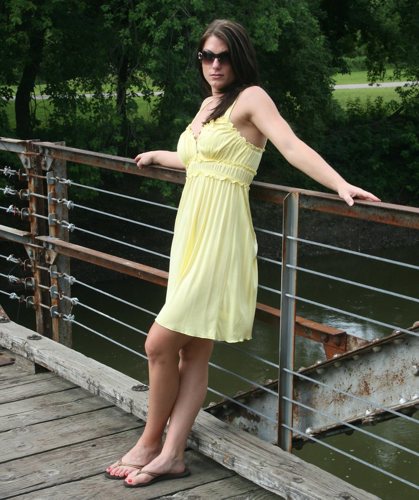 Sexy In Yellow Sundress Sunglasses And Flipflops Flickr