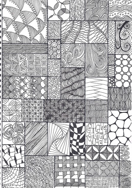 Zentangle pattern sheet A40 collected from various source Flickr Simple Zentangle Pattern