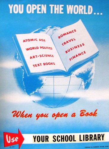 RETRO POSTER - You Open the World ... When You Open a Book | by Enokson