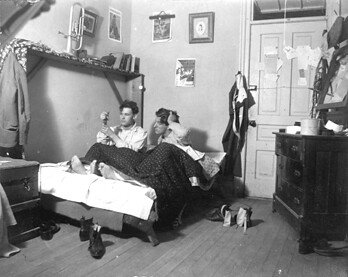 Students Share A Bed 1900 Two Students Share A Bed In A