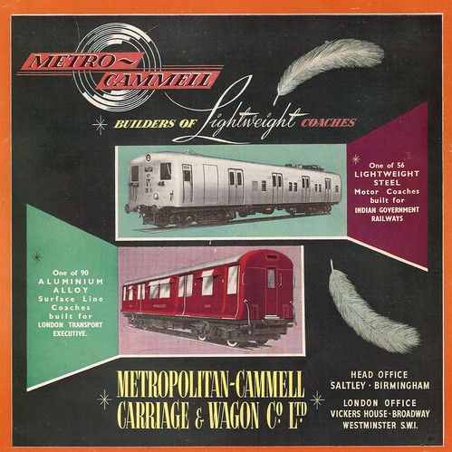 Metro-Cammell railcars and carriages, 1952 | by mikeyashworth