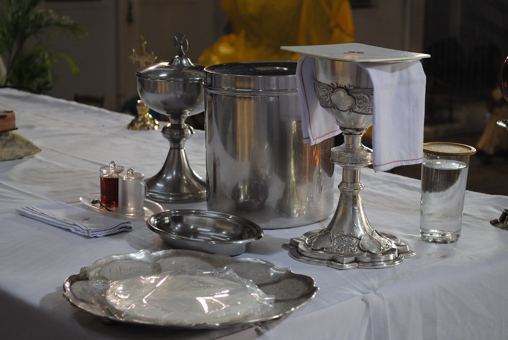 Vessels For Holy Mass Chalice Ciborium Wine Water And