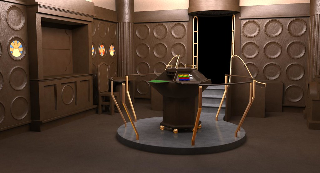 doctor who wooden tardis console room 1970s the wooden
