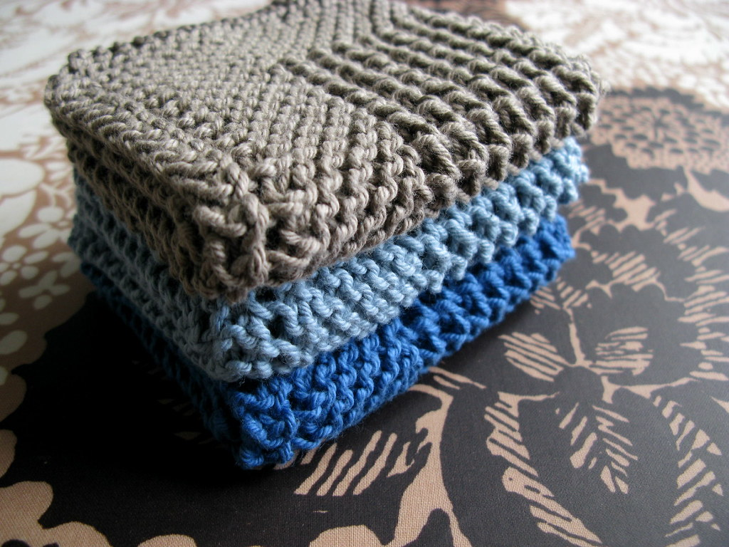 Diagonal Knit Dishcloth By Jana Trent Pattern Source Eloo Flickr