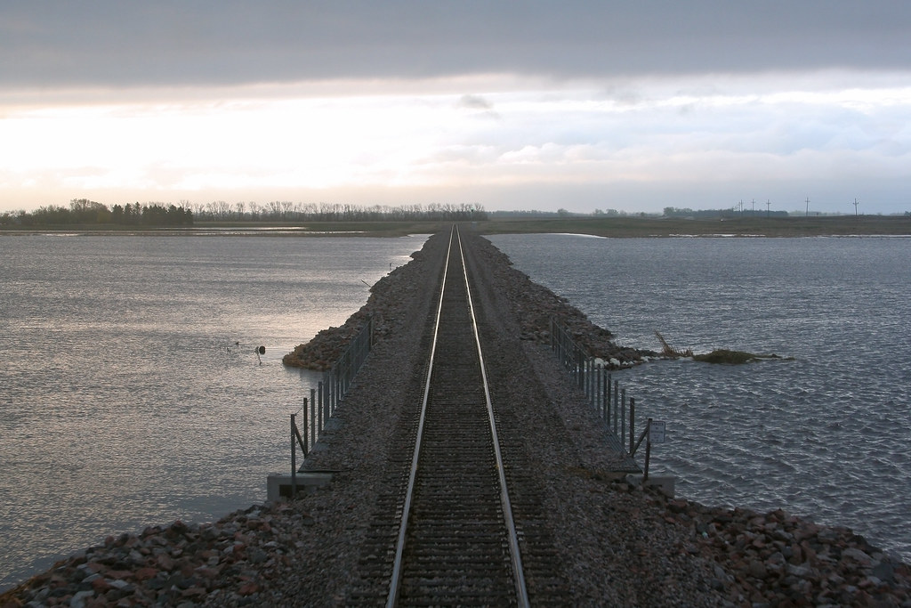 Devils Lake Nd >> BNSF Devils Lake Subdivision Flooding | This photo depicts ...