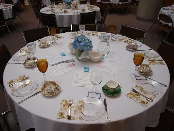 Blue Hydrangea Tea Party Table Setting May 2009 Blue