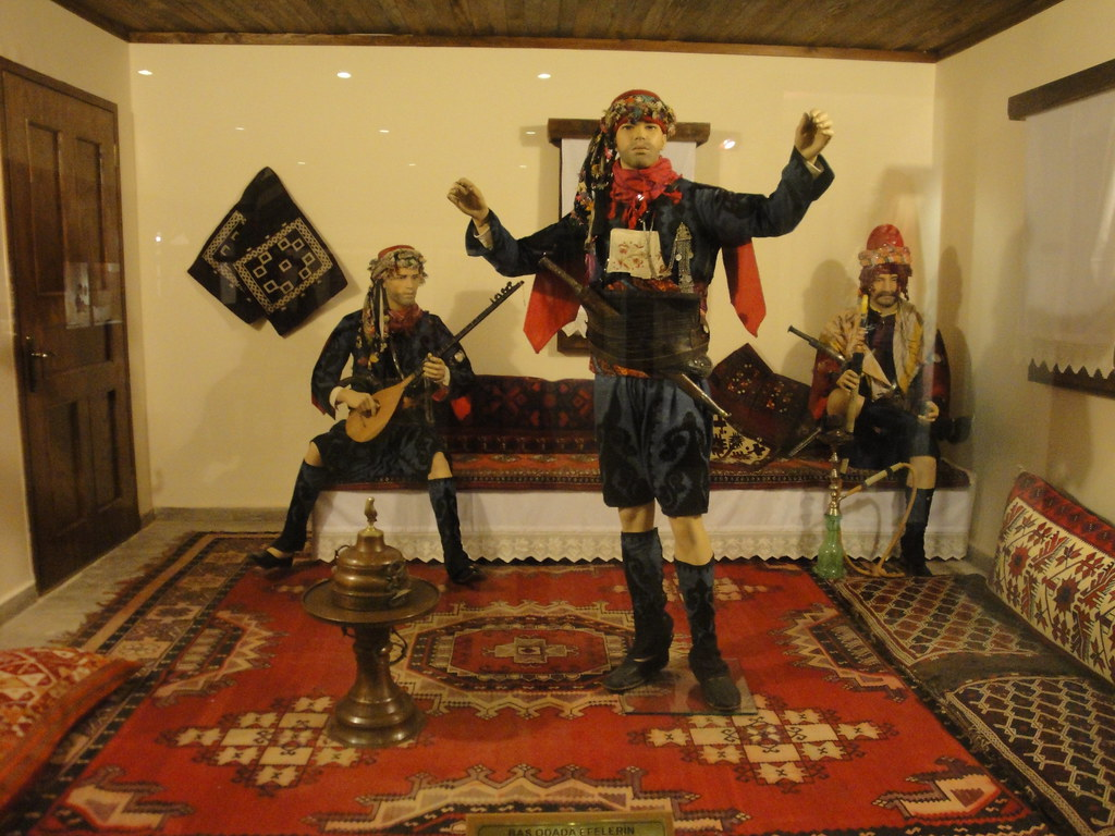 Turkish men dancing  Bergama Archaeology Museum ...