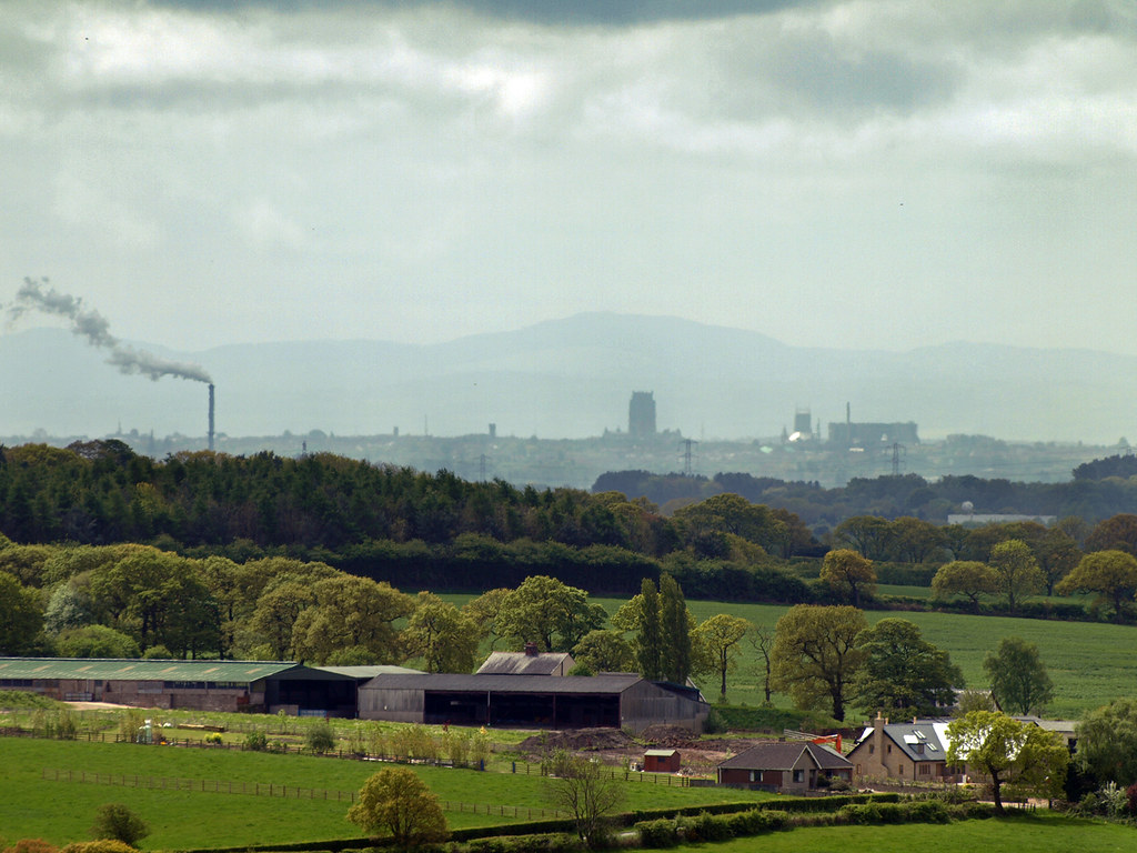 Liverpool from Parbold Hill | Towards Liverpool and North ...