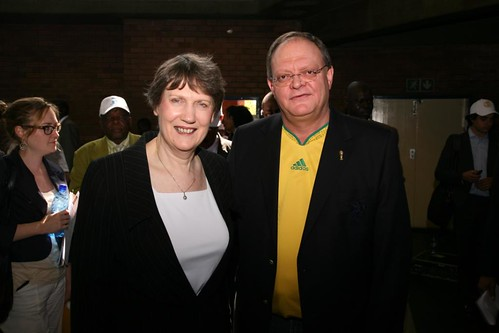 With South Africa Deputy Sports Minister Gert Oosthuizen | by United Nations Development Programme