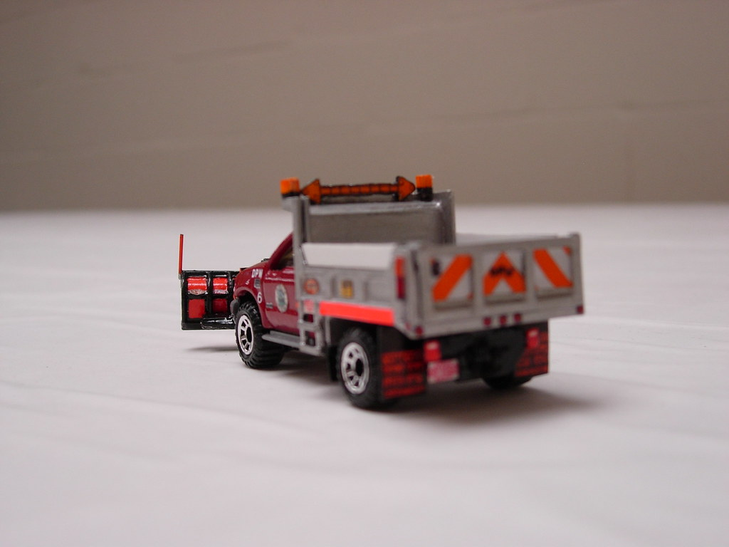 Matchbox 1 Ton Ford F 550 Snow Plow A Custom Built