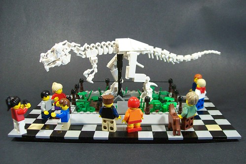 T-rex skeleton | by legomocs.