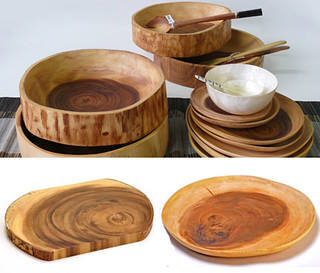acacia wooden plates & bowls | by the style files