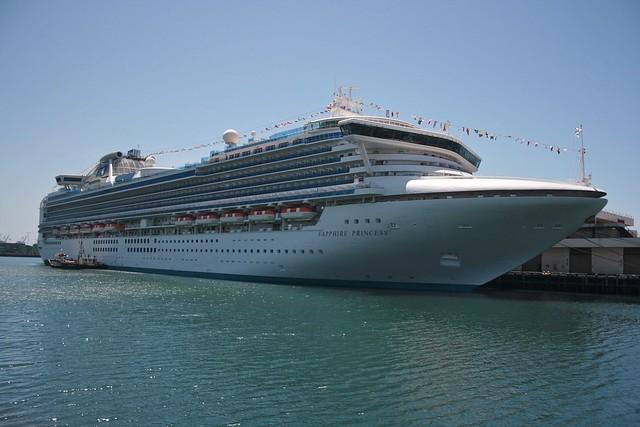 Sapphire Princess Docked At The Los Angeles Cruise Termina