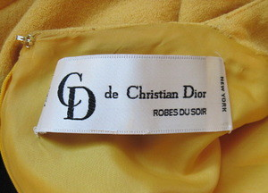 Christian Dior robes du soir vintage dress label | from a ...