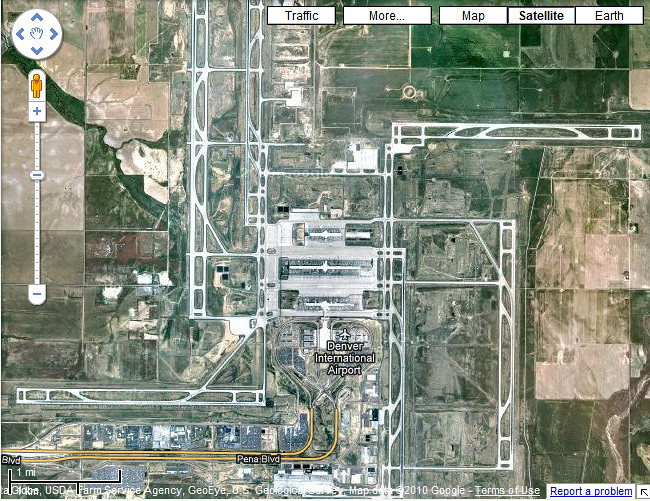 Denver International Airport DIA Roughly Swastika Shap