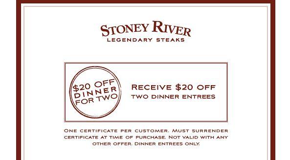 coupon stoney river