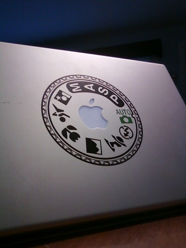 Another great Father's Day gift: Nikon mode dial decal for my MBP. #fb | by PeterWood