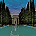 pulgas water temple watercolor