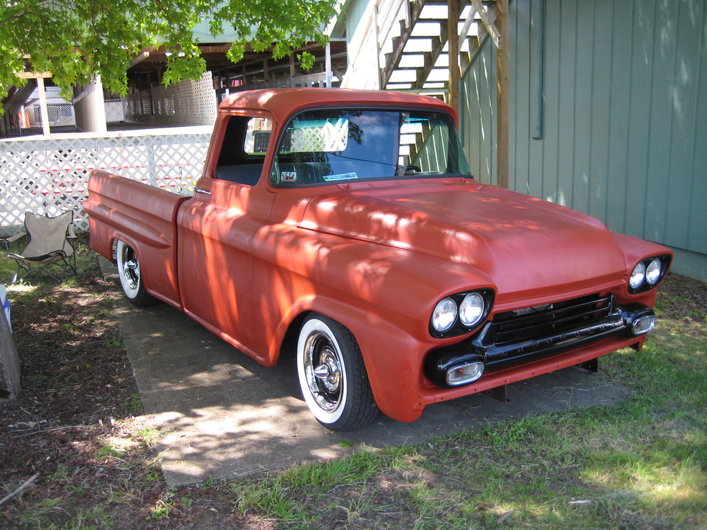 New Chevy Trucks >> Billetproof - 1958-59 Chevy pickup | Parked in the shade at … | Flickr