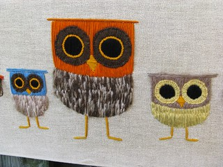 Lovely vintage owl crewel work... | by woolly  fabulous