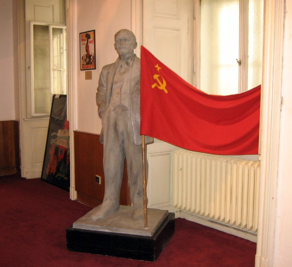 Leni Mesum: Lenin Statue And Soviet Union Flag Inside Museum Of Commun