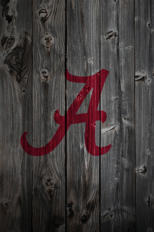 Anonymous6237 Alabama Crimson Tide Alternate Logo 3 Wood IPhone 4 Background