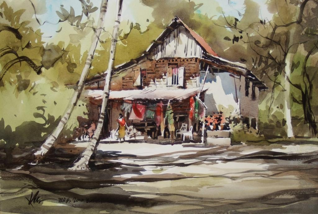 100627 Kampung Life 2 This Watercolour Was Done On
