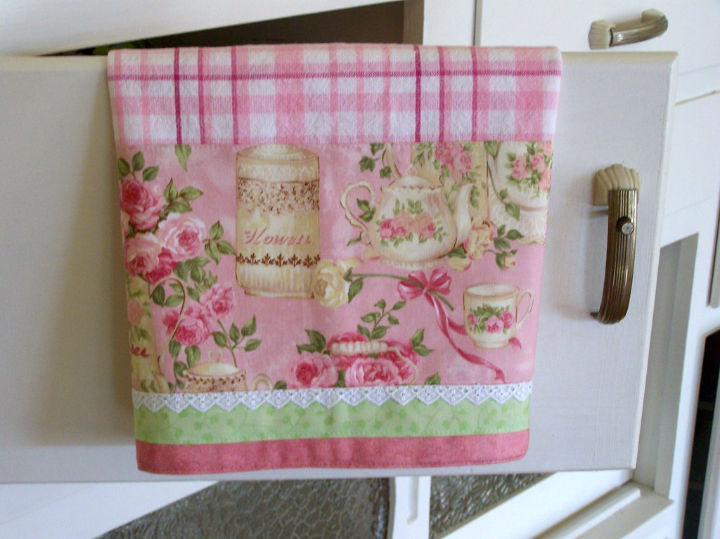 Chic And Shabby Shabby Cottage Chic Towel On A Vintage C