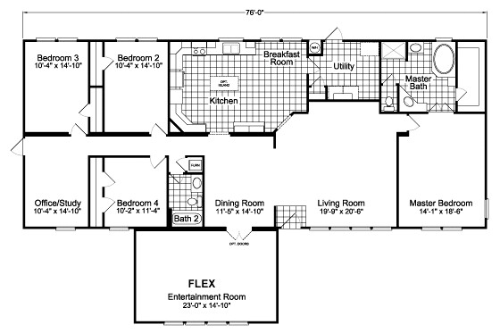 The ponderosa flex palm harbor homes factory direct for Free modular home floor plans