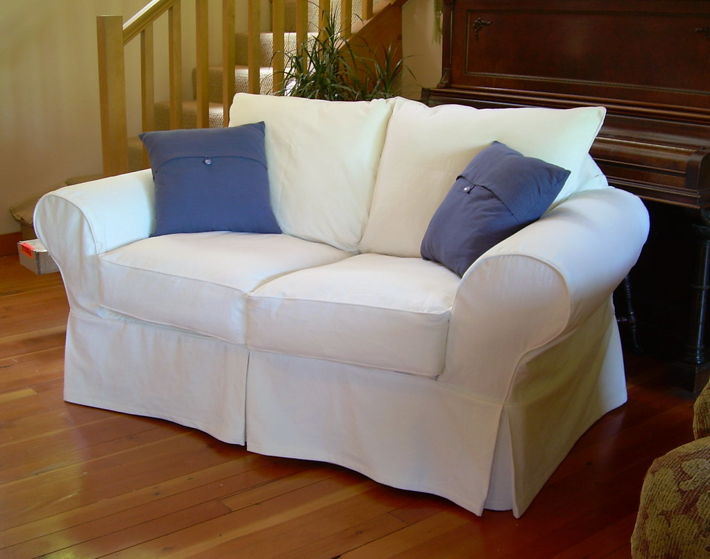 White Cotton Loveseat Slipcover Robin 39 S Loveseat After