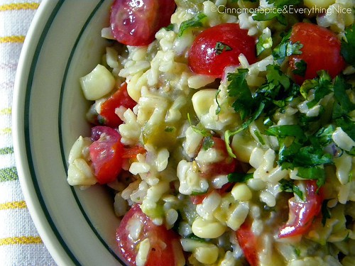 Southwest Rice Salad with Lemon Dressing | by CinnamonKitchn