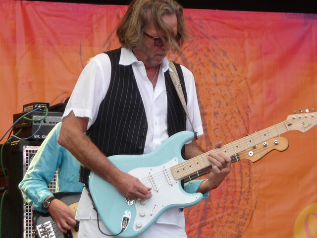 Eric Clapton playing guitar