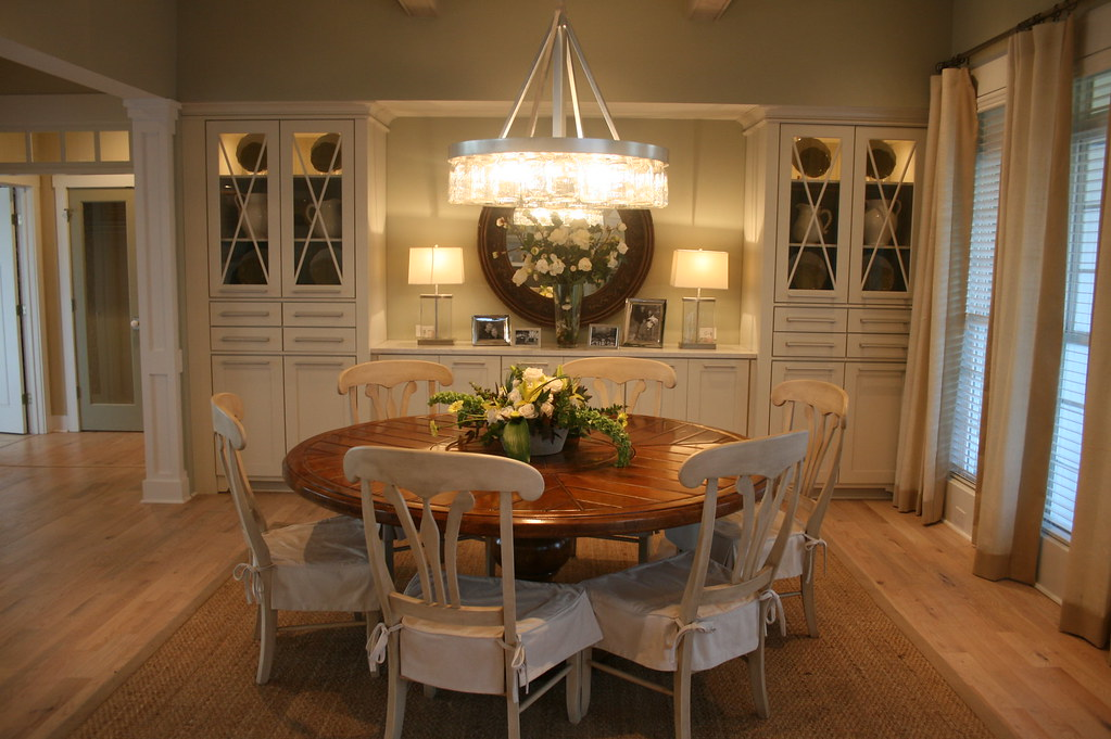 Dining Room Table And Fabric Chairs
