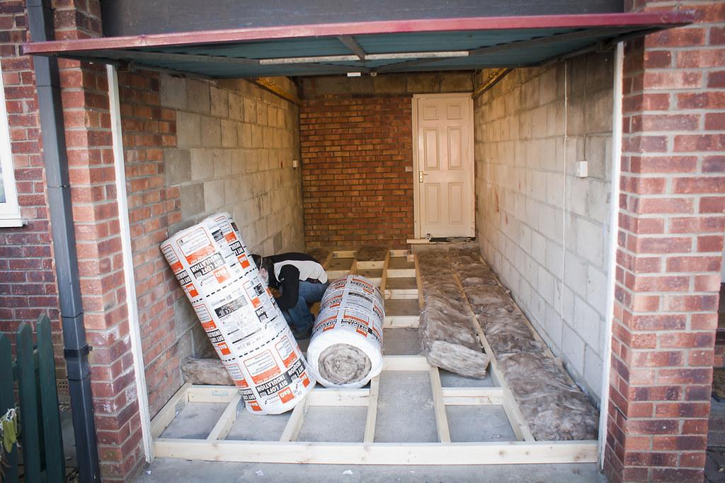 Garage Conversion Insulation Into Floor Joists
