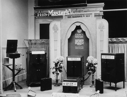hmv 363 Oxford Street, London - Dance Music window display 1920s