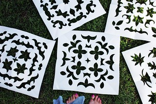 freezer paper stencils | by artsy-crafty babe